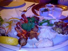 Entrees - prawns sinka, sekura parbat, momo, bhutuwa