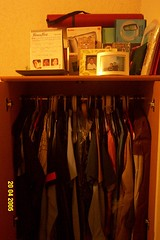 My disorganized closet