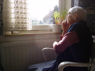 Elderly woman + her view | by Borya