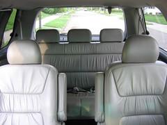passenger cabin in a Honda Odyssey minivan