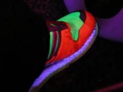 glowing sneaker