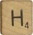 scrabble h