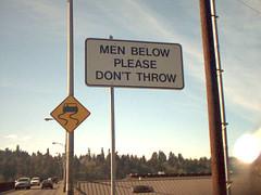 Sexist sign on the Selwood Bridge