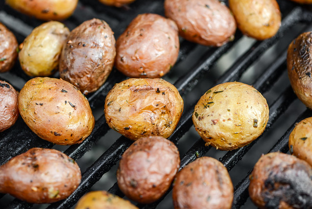 Crisp Grill-Roasted New Potatoes