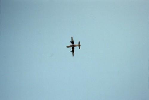 C-130 Hercules flying over