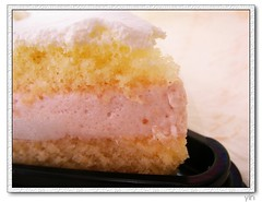 全家草莓蛋糕草莓奶油特寫
