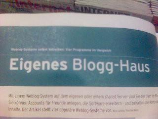 Weblog-Systeme im Vergleich