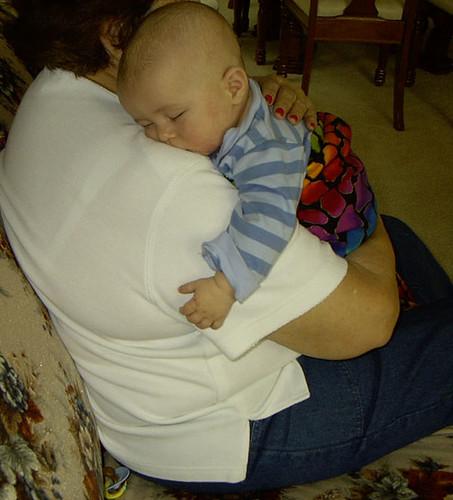asleep on great grandma