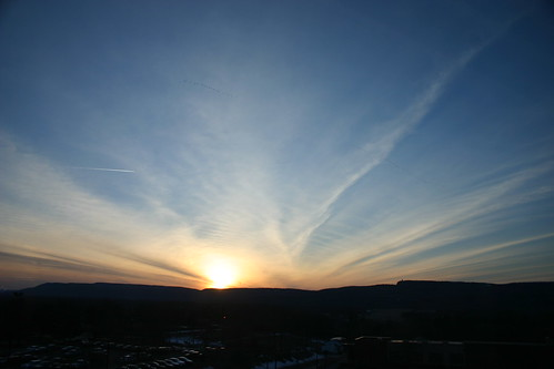 sunset silhouette sky skytop newpaltz theridge ulstercounty