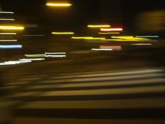 blurred streetlights