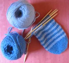 toe-up striped socks