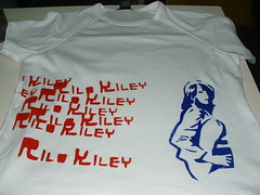 rilo kiley stencilled shirt