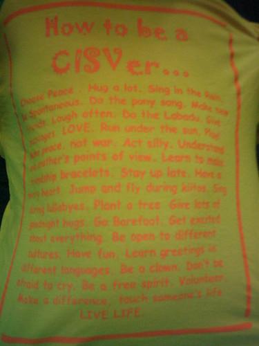 How to be a CISVer...