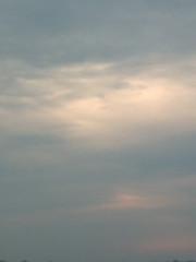 2 avril 2005, ciel du matin
