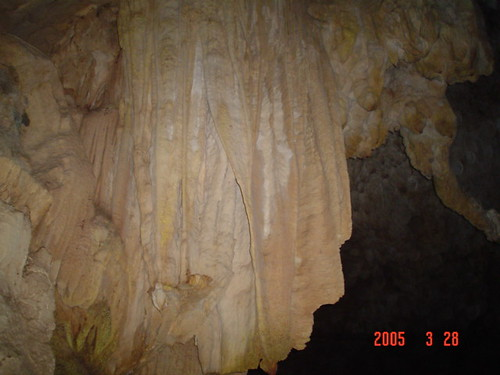 Ridges on a cave wall