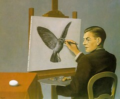 La clairvoyance. Magritte, 1936.