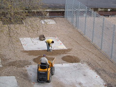 Spreading the surface for the playground