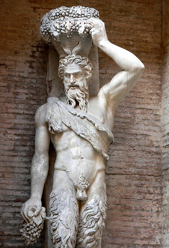 """Satyr """"Della Valle"""" one of a pair depicting Pan were found near the Theater of Pompey and are thought to be part of its original decoration sculpted from a Hellenistic period original 1st century BCE (2) 