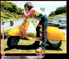 chica moto