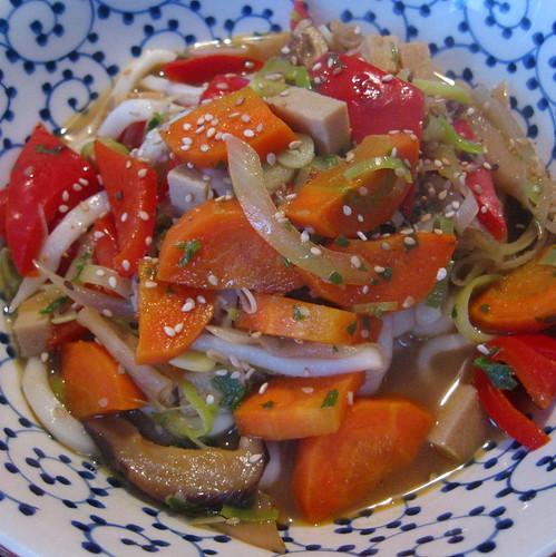 Colourful noodlesoup