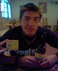Juanito feliz...