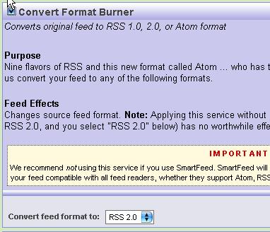 申請 FeedBurner: step 3