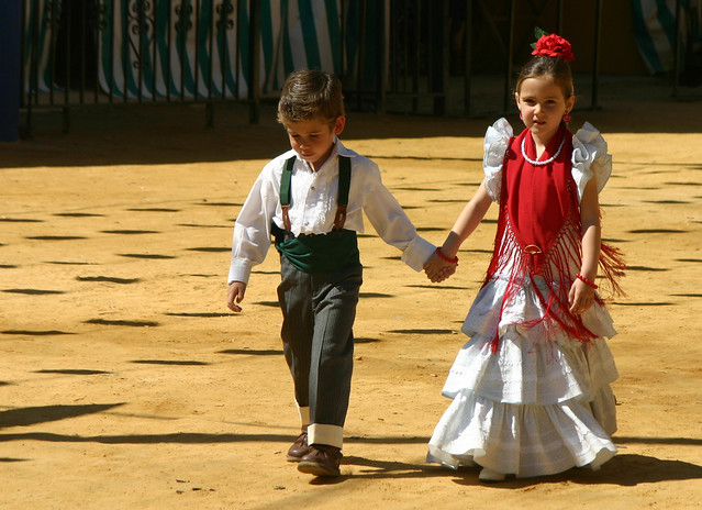 Young love in Sevilla at the Feria.