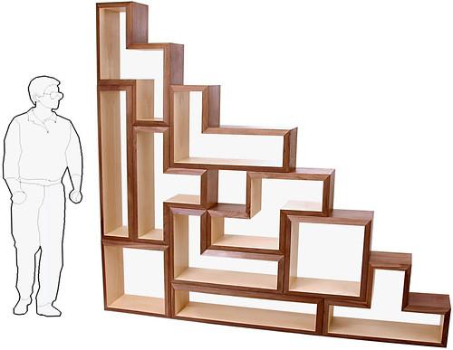 BraveSpaceDesign's Tetris Shelves.