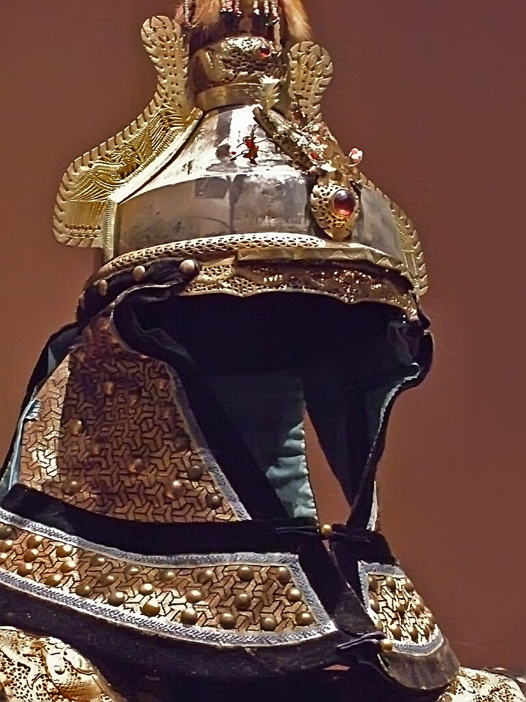 manchu imperial guard u0026 39 s parade uniform helmet qing dynasty