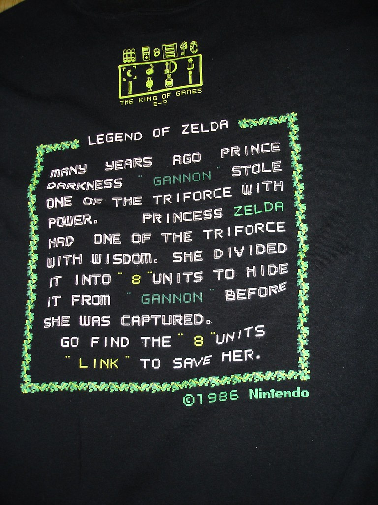 Nintendo T-shirt (The Legend of Zelda)