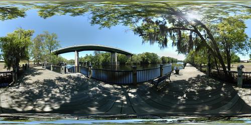 bridge panorama river geotagged conway pano 360 sphere boardwalk equirectangular waccamaw geolat33831509768676 geolon79044304038416