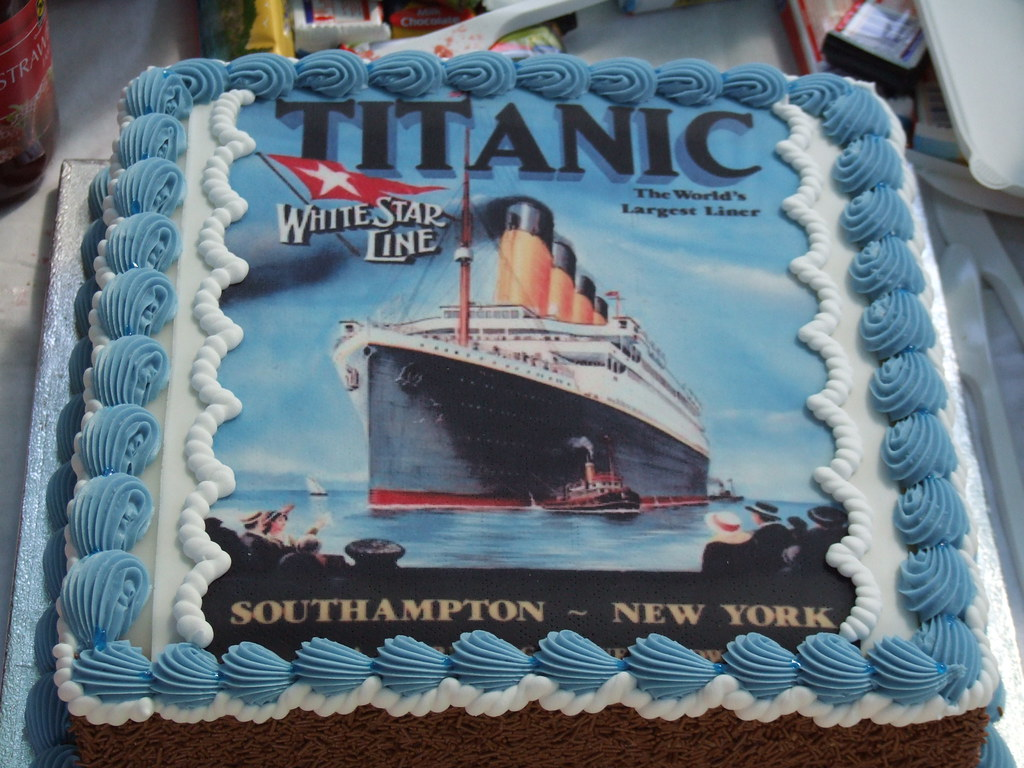 That's a cake with Titanic on it as opposed to a big tita