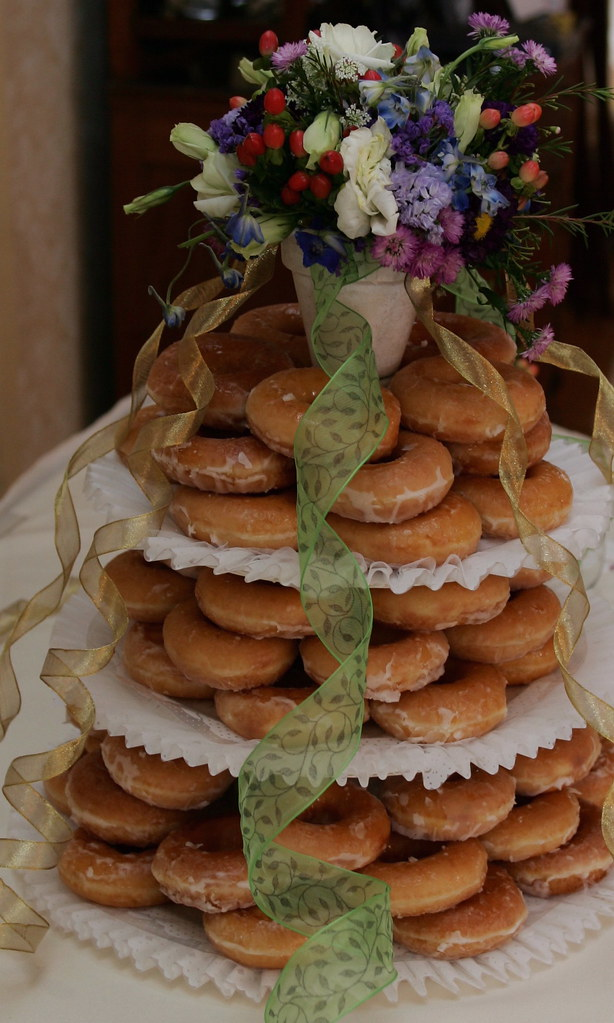 Our Krispy Kreme Wedding Cake Based On An Idea Done On Tel Flickr