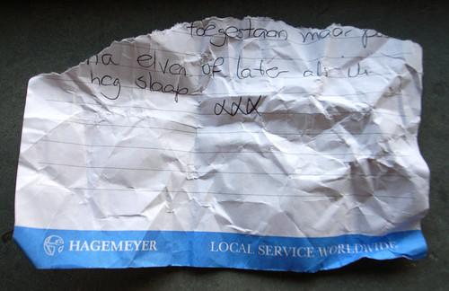 found note