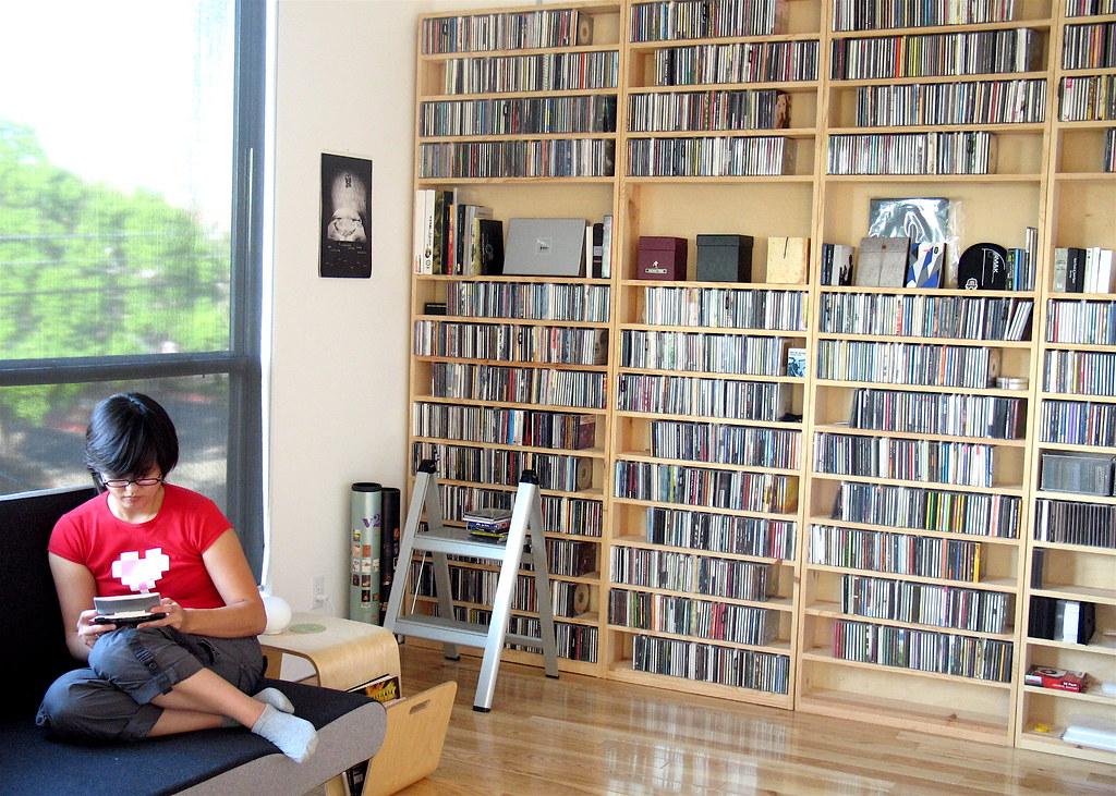 Karin & Custom Shelving   Karin enjoys a game of Super Mario…   Flickr