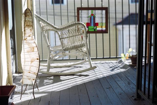 deville landing - lamp rocker stained glassw