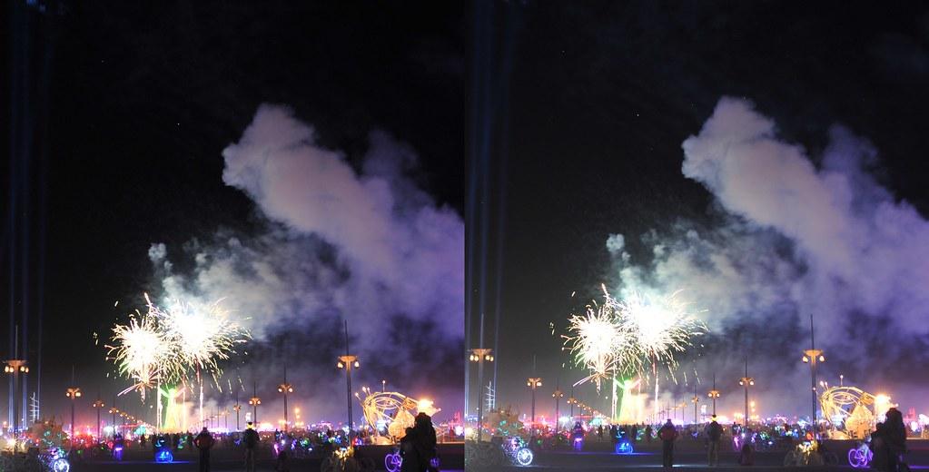 Burning Man 2015 - The Burn - 3D Cross-View