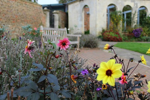 bench by the walled garden | by my little red suitcase