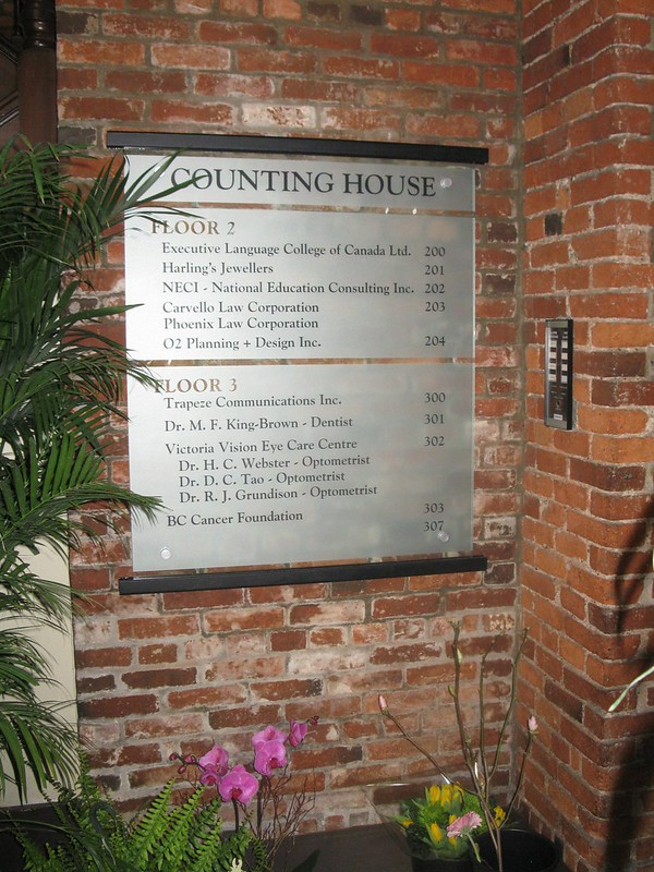 Counting House glass etch directory