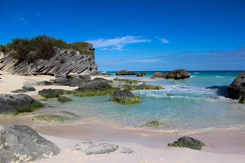 blue sky sun water sand holidays rocks paradise waves bermuda clearwater pinksand