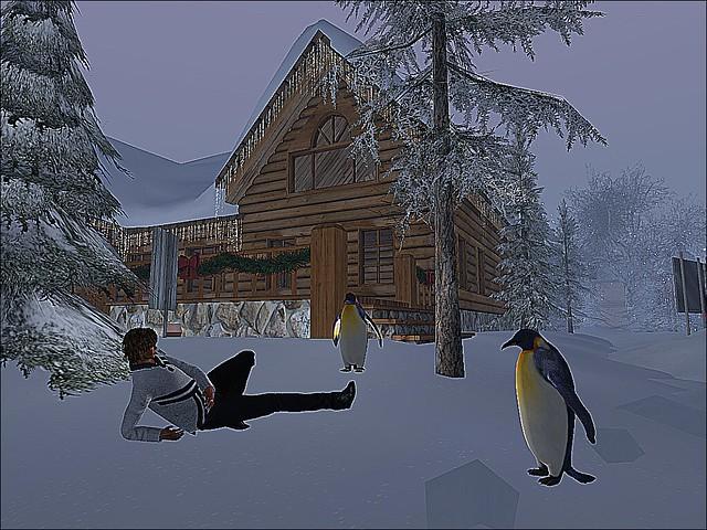 Winter Showcase & Winter Art -  Penguin Me & the Boys Were Talking; Me:  It's About The Tux, huh?