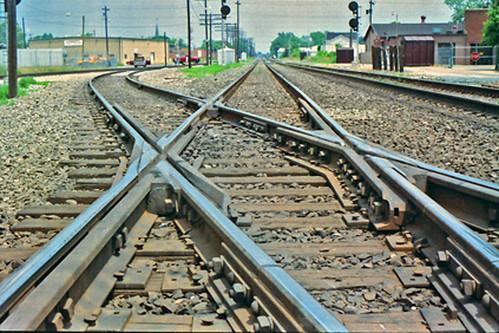 tracks railroadtracks muncieindiana indiana railroadsofindiana railroaddiamonds railroadcrossings conrail norfolksouthern rails