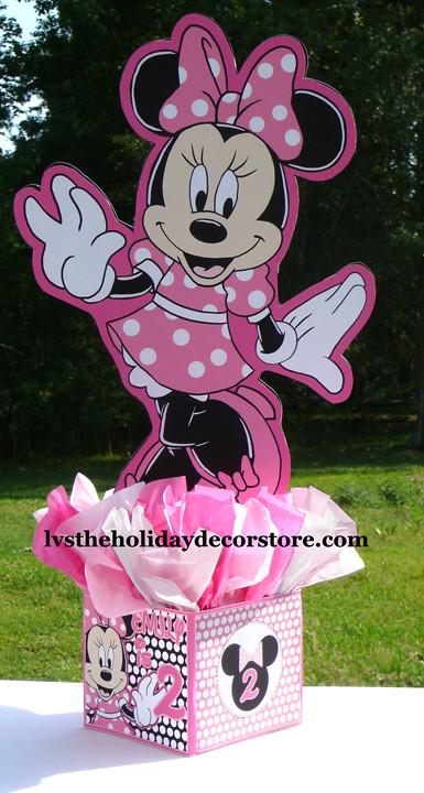 24 Inch Large Pink Black White Minnie Mouse Centerpiece De Flickr