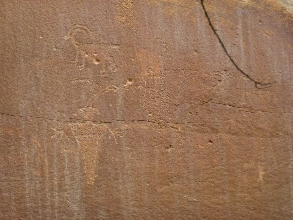 Ancient Indian drawings, Capitol Reef State Park, Utah