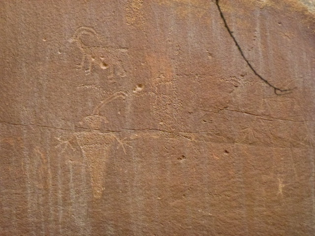 Ancient Indian drawings, Capitol Reef State Park, Utah