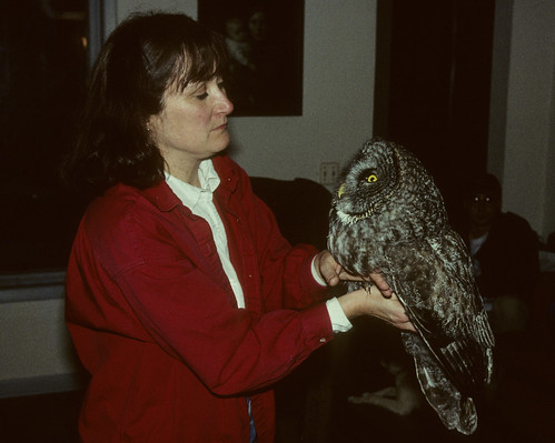 Laura with a Great Gray Owl