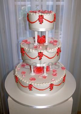Pièce Montée Gâteau De Mariage Le Rêve Américain En Rose