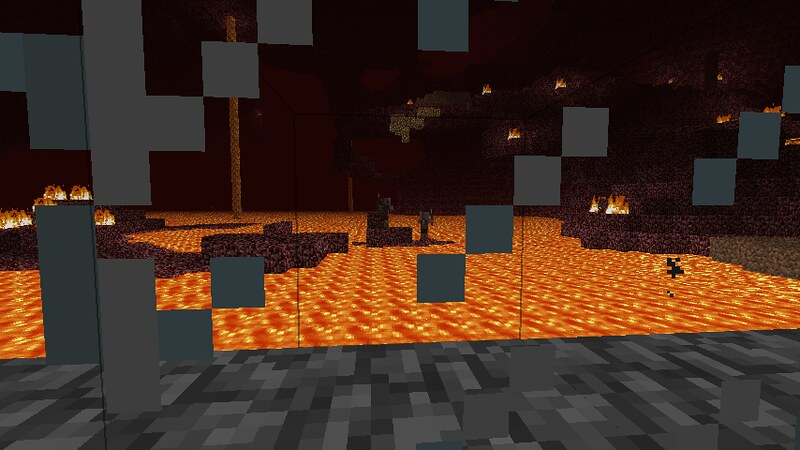 First journey into the Nether | The lava was discouraging, e… | Flickr
