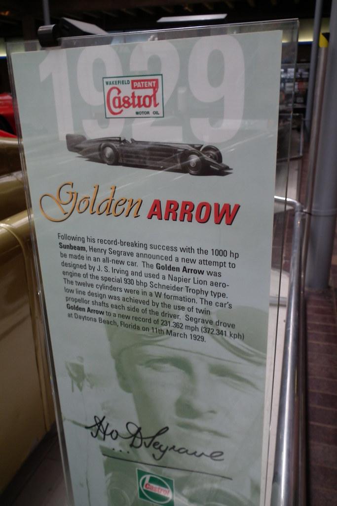 Golden Arrow land speed record car