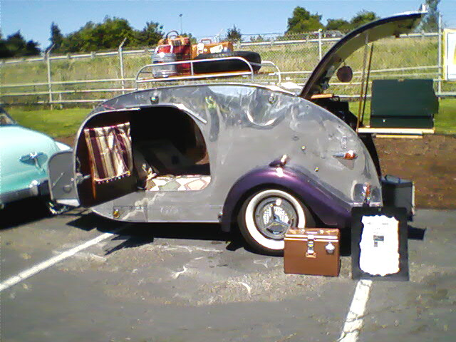 Adorable vintage teardrop trailer | I believe this is a 1947